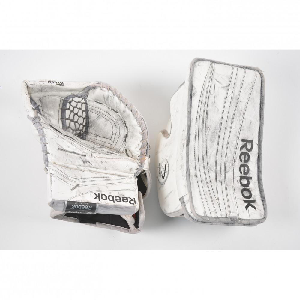 perfume Leer Filosófico  Reebok Premier XLT glove + P4 blocker SR, pair - Kiekkobussi - Kierrätä ja  säästä